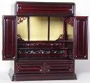 コンパクトで落ち着いた色目の小型上置仏壇 「コスモス16号」_