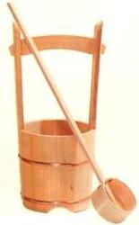 木製手桶(小)柄杓付