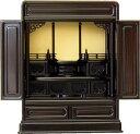 小型仏壇 上置 ゆうがお 丸須美 20号 黒檀・紫檀 ミニ 仏壇
