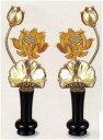 ◆花立:真鍮製 常花:銅製 消金メッキ仕上【小】サイズ胴径61 花高さ110 台(花立)高さ60ミリ総高さ170ミリ