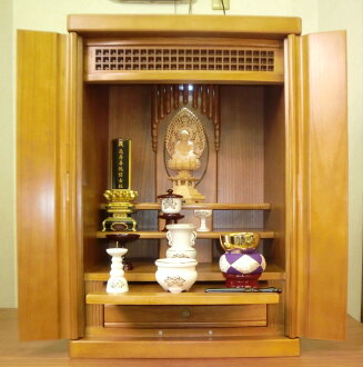 Modern Buddhist altars 'Halo' Brown & luxury paulownia wood