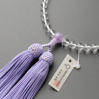 Wisteria 雲石, Rosary Kyoto Rosary manufacturing wholesale for Union women of this crystal-pure silk head tuft with