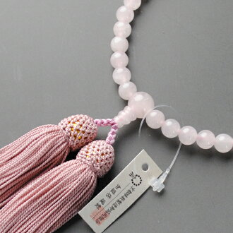 Your rosary: Kyoto prayer beads manufactured wholesale for Union women beads, Rose Quartz and silk head tuft with