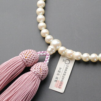 Kyoto Rosary manufacturing wholesale Association women for beads, shell Pearl, pure silk head bunch