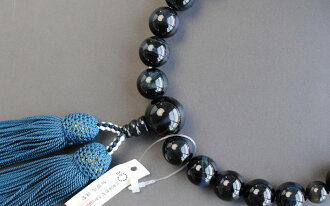Kyoto Union men for prayer beads wholesale, Rosary manufacturing, blue tiger eye stone, pure silk head tuft