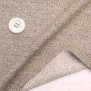 ニット生地   ウールライクライトタイプ ミニ裏毛グレーとカーキの粒々杢 50cm単位 はかり売り 手芸 クラフト