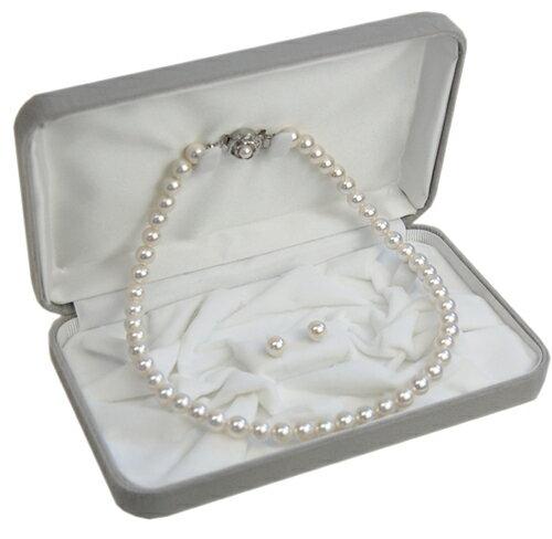 【対応】オリジナル日本製国産・パールネックレス/ピアスイヤリング付セット(ケース付き)あこや花珠真珠の様な天然貝核本貝パール真珠ネックレス 10P01Oct16