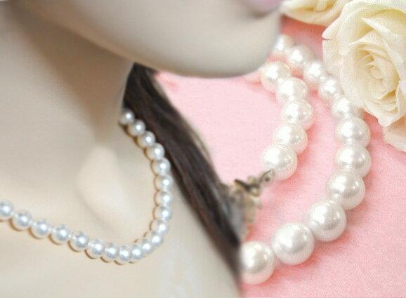【あす楽対応】日本製国産パールネックレス 本貝パール真珠ネックレス(フォーマルパールネック…...:buzz:10000997