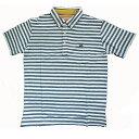 ショッピングクリフメイヤー KRIFFMAYER(クリフメイヤー)半袖ポロシャツ『マルチステッチPOLO』ネイビー太ボーダー