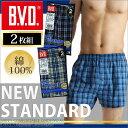 2枚組 B.V.D. NEW STANDARD トランクス / メンズインナー / 【綿100%】  【シンプル】 【コンビニ受取対応商品】 【02P03Dec16】