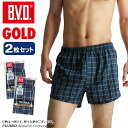 B.V.D.GOLD トランクス 2枚セット S,M,L  チェック