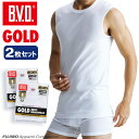 B.V.D.GOLD スリーブレス 2枚セット S,M,L  BVD 【綿100%】 シャツ メンズ インナーシャツ ノースリーブ 下着【白】 【コンビニ受取対応商品】
