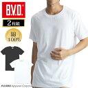 メール便専用・  2枚組 クルーネック半袖Tシャツ BVD NEW STANDARD メンズインナー  綿100% インナーシャツ 丸首 ey713