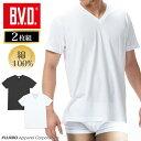 Vネック半袖Tシャツ 2枚組 BVD N...