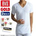 2枚組セット B.V.D. GOLD V首半袖シャツ(スッキリタイプ) LLサイズ BVD 綿100% シャツ メンズ インナーシャツ g044-2p