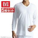 5枚セット B.V.D.Finest Touch EX U首8分袖Tシャツ(S.M.L) 日本製  綿100%  シャツ メンズ インナーシャツ 下着 抗菌 防臭 日本製  白   コンビニ受取対応商品  gn318-5p