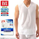 B.V.D.  接触冷感 メッシュ編み 吸水速乾 V首スリーブレス 綿100% メンズ インナーシャツ クールビズ BVD  コンビニ受取対応商品