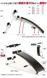 【送料無料】腹筋ベンチ背筋シットアップベンチアーチカーブ型腕立てトレーニング筋トレ【RCP】
