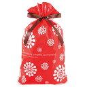 【ラッピング袋】【クリスマス】 北欧  リボン付PEギフトバ...