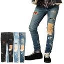 グラム パンツ glamb Kurt damaged denim ストリート系 ファッション