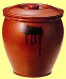 【漬けもの】【ぬか漬け】【梅干し】丸かめ(蓋付) 半胴瓶 丸壺5號 9.0L