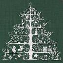 DMC 刺繍キット クリスマス(刺しゅう)クロスステッチクリスマスツリー(グリーン/ホワイト)初心者向け