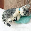 羊毛フェルト 猫キットフェルト羊毛キット うちのこを作ろう!サバトラ