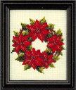 ルシアン(コスモ) クロスステッチ 刺繍キット(刺しゅうキット) 四季折々の花だより12月(ポインセチア)