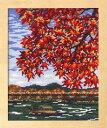 刺繍キット(紅葉の嵐山)