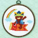 クロスステッチ 刺繍 キット (刺しゅう キット)オリムパス 初心者向け 鯉のぼり(5月飾り) たのしいこどもの日