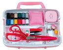 トレミー裁縫セット(ソーイングセット) 小学生 家庭科用ストッパーハンドル付きタイプ(ピンク)