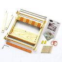 送料無料 手織り機(卓上織り機)クロバー咲きおり40cm(30羽)『手織りこもの』本付き