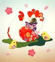 押絵(押し絵)ちりめん キット 干支 酉 正月飾り 桜の親子鳥