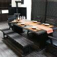 【家具】 P7 ダイニングテーブルセット 幅190cm 6点セット 6人掛け 無垢材 木製 高級家具 肘付きチェアー ダイニングチェアー 食卓 ダイニング6点セット ミッドセンチュリー 北欧