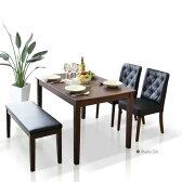 【家具】 ダイニングテーブルセット ダイニングテーブル4点セット 幅115cm 食卓4点セット 4人用 4人掛け 食卓セット モダン ブラック ホワイト ダイニング シンプル テーブル