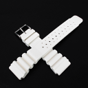 24 millimeters of belt white [24 millimeters of size] for rubber (natural rubber) divers made in Italy [tomorrow easy correspondence] a watch clock [easy  _ packing] [comfortable  _ expands]