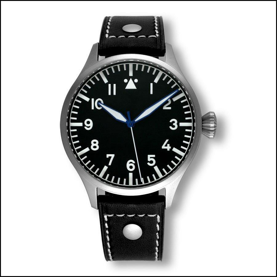 ドイツ製 パイロットウォッチ 39ミリ(ロゴなし)ARCHIMEDE パイロット ヒストリカルダイヤル 腕時計 時計 UA7969-A4.1 カード分割 ★在庫有り★ドイツ製自動巻き アルキメデ Hダイヤル 腕時計