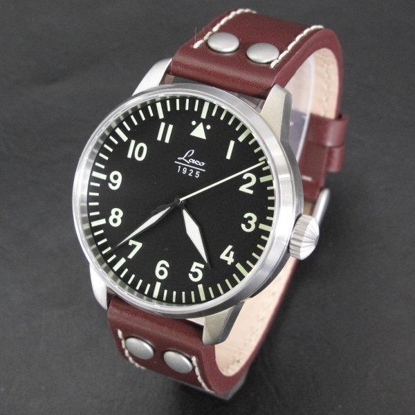 ラコ 腕時計 Laco pilot Augsburg 861688 自動巻 Laco21 ドイツ時計 パイロット 42ミリ カード分割 ◎代理店注文品≪ 正規代理店品 ≫ドイツ製 メンズ腕時計
