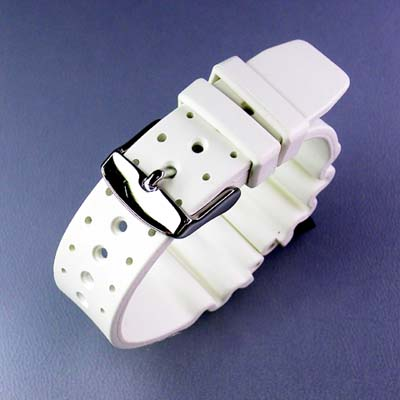 Italy-made rubber (natural rubber) for divers belt white watch watches