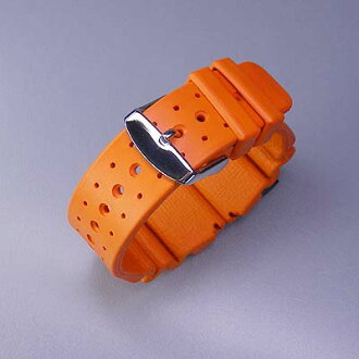 Italy-made rubber (natural rubber) for divers belt Orange watch watches