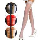 Music Legs 薄手のシアー素材のオーバーニーストッキング/トップ部分がレース素材/品番4110【ゆうP対応】