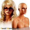 超美形のヘッドマネキン(頭) トルソー/ウィッグスタンド、帽子掛け、サングラス掛けに!/店舗用品・商品撮影用に如何でしょうか!