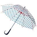 【メーカー公式ストア】Evereon傘 ドット ★Newハンドル 60cm 雨傘 かさ カサ umbrella アンブレラ ビニール ビニール傘 グラスファイバー 強風 婦人傘 雨具 サビにくい プラ