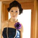 アネモネ コサージュ【紫】【モダンなアクセサリーは大人可愛くて甘くなりすぎない大人にもオススメ!】ドレスや着物、浴衣の髪飾りや帯留め、帯飾りのアクセントに使っていただきたいコサージュ【卒業式】【結婚式】