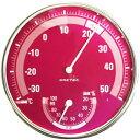 アナログ温湿度計 ピンク DRETEC[ドリテック] 【手作り石鹸/温度計/湿度計】【bd】