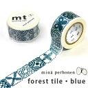 RoomClip商品情報 - マスキングテープ 『mt×mina perhonen forest tile・blue ミナペルホネン フォレストタイル』 【mt/フォレストタイル/ミナペルホネン】