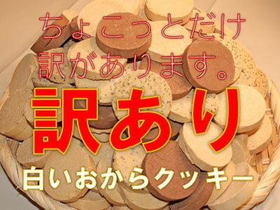 【ワケアリ特価】数量限定!ワケアリ商品につき特価でご奉仕!白いおからクッキー1kg!!※ワケアリの内容をご理解の上お買い求め下さい。発送は3月14日以降となります。