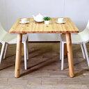 北欧テイストのダイニングテーブル 食卓 センターテーブル パソコンデスク PCデスク 学習机 無垢 パイン材 90cm 2人 正方形 天然木製 国産 日本製 カフェ風 ナチュラル カントリー
