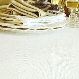 ♪ リネン テーブルクロス ローム オフホワイト / ウィート 130 x 170 リトアニア製 【RCP】