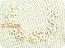 再入荷☆クチナシの花2枚セットIV/フラワー/レトロ/ハンドメイド/雑貨/刺繍ワッペン/ア